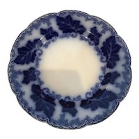 """Johnson Brothers Flow Blue Luncheon Plate 8 3/4"""" Normandy Pattern"""