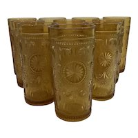 American Concord Amber Tumblers by Brockway Glass Company