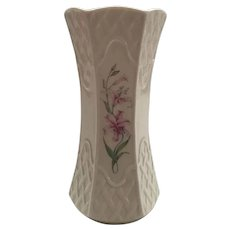 Belleek Vase with Tiger Lilies