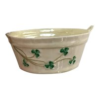 Belleek Bucket (Open Sugar) With Shamrocks