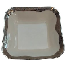 Art Deco Hutschenreuther Selb Hand Painted Large Square Serving Bowl