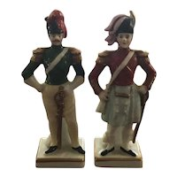 Set of 2 Porcelain Soldiers marked Germany