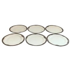 Art Deco Hutschenreuther Selb Platinum Rimmed Dinner Plates