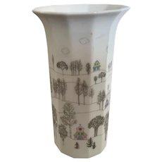 Rosenthal Studio Line Vase in the Winter Journey Design