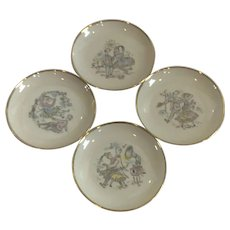 Set of 4 Schuman Arzberg Coasters with A Courting Couple
