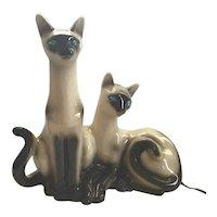 Mid-Century Siamese Cats T.V. Lamp