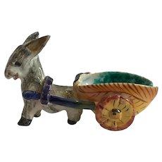 Donkey Pulling Cart marked Italy