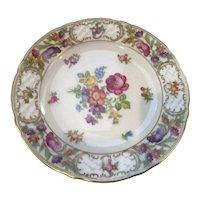 Set of 5 Schuman Bavaria Empress Dresden Flowers Dessert/Salad Plates