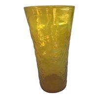 Large Blenko Yellow Vase