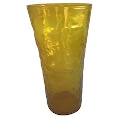 Large Blenko Yellow Vase