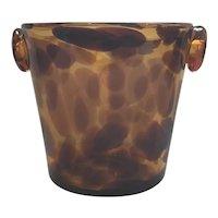 Mid Century Murano Tortoishell Ice Bucket
