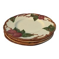 "Set of 4 Franciscan Apple 6"" Bread and Butter Plates"