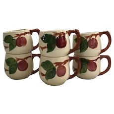 Set of 6 Franciscan Apple Mugs with the made in England mark.