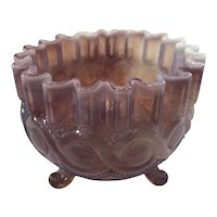 Northwood Beaded Cable Rose Bowl 1903