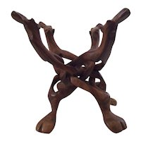 Hand Carved Interlocking Wooden  Camel Stand