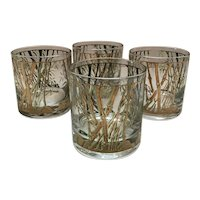 Culver Bamboo Vintage Rocks Glasses