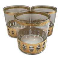 Set of 3 Culver Antigua Glasses