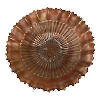 Northwood Stippled Rays Carnival Glass Bowl