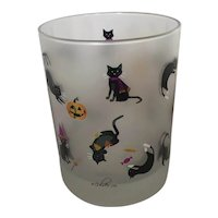 Culver Halloween Cats Old Fashioned Glass
