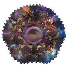Northwood Small Fruits Carnival Glass Sauce Bowl