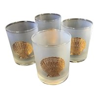 Set of 4 Signed Culver Bar Glasses