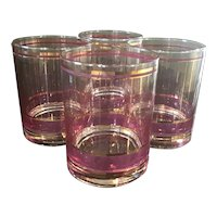 Set of 4 signed Culver Glasses