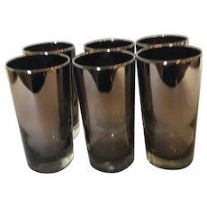Set of 6 Collins  Mercury Collins Glasses
