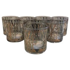 Set of 8 Culver Old Fashioned Bamboo Glasses