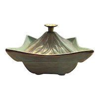 California Original Pottery Candy Dish with Lid Hollywood Regency