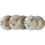 Set of 5 R.S. Prussia Desert Platesin the Bow Tie Mold