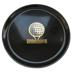 Couroc Tray with Golfball