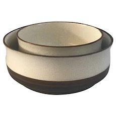 2 Denby Potters Wheel Serving Bowls