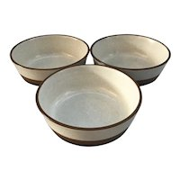 3 Denby Pottery Potters Wheel Cereal or Soup Bowls