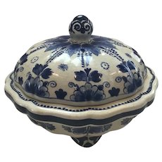 Delft Pottery Trinket Jar with Lid