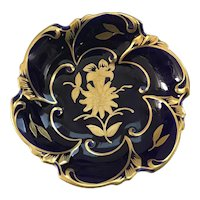 Echt Kobalt Hand Painted German Nut Bowl