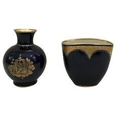 Echt Kobalt Set of 2 Kueps Bavaria Vases