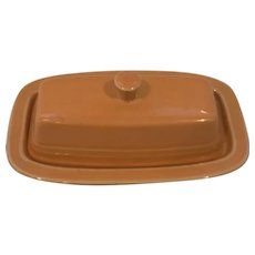 Fiesta Ware Tangerine Butter Dish