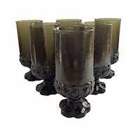Franciscan Iced Tea Glasses in Dark Olive