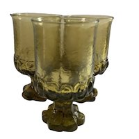 3 Franciscan Madeira Water Goblets in Citron