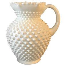 Fenton Hobnail Milk Glass Pitcher