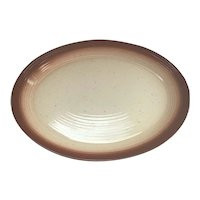 Franciscan Ware Large Platter with Rust Stripe on Edge