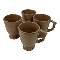 4 Frankoma Footed Cups