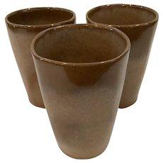 3 Frankoma Pottery Tumblers