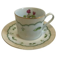George Briard Victorian Garden Cup and Saucer