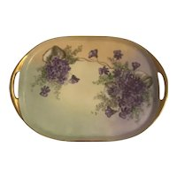 Limoges Haviland France Hand-Painted Artist Signed Vanity/ Serving Tray