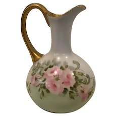 Limoges Pitcher marked AK D France Circa 1890-1910