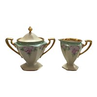 B&C Limoges France Cream and Sugar