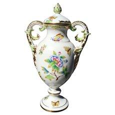 Herend Urn in the Queen Victoria Pattern