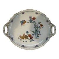 Vintage Haviland Limoges 'Aux Cailles' Handled Cream Bowl