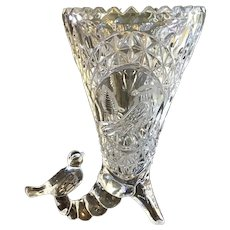 Hofbauer Crystal Cornucopia Bavarian Lead Crystal Vase